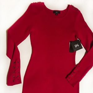 NWT i.n. San Francisco  large laceup sweater dress